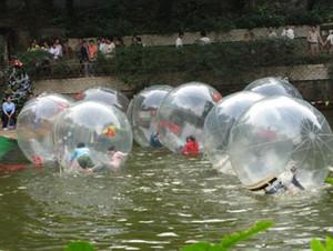 2m gigante inflable Bolas Zorb Balls adultos cuentos para niños Caminar sobre el agua bola que baila la bola bola de los deportes caminar sobre el agua con la cremallera juguete PVCfloating flotador