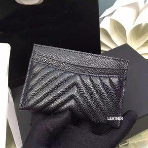 ausgezeichnete Qualität schwarzen Kaviar V Kartenhalter 2016 Original Lammfell Kartenhalter 100% Echtleder Mini V Gitter Kreditkarte Halter