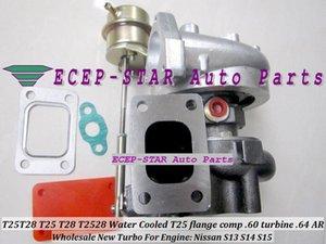 T25 T28 T25T28 T25 / T28 T25 / 28 Wassergekühlte Turbo Turbolader Für Nissan S13 S14 S15 Motor T25 Flansch Comp. 60 Turbine .64 A / R