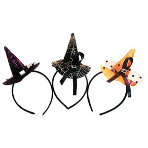 2017 Halloween Party Dress Up Puntelli Witch Hat Role Play Ornaments Halloween Carnival Toys Witch Copricapo Hairband