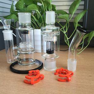 17 polegadas bongos de vidro duplo Stereo Matrix removível perc vidro da tubulação de água plataformas de petróleo com grampos de 18mm conjunta