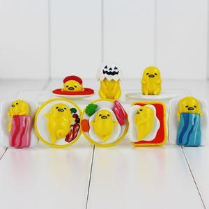 Симпатичного Gudetama желток июнь ПВХ Действие рисунок коллекционной игрушки Modle для детей дара 2.5-4.5cm 8шт / LOT освобождает перевозку груза