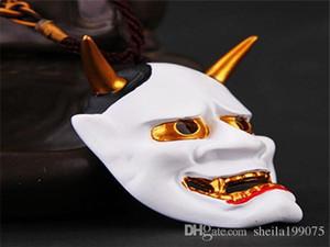 Weiß Japan Film Kito Weisheit Cosplay Ghost Mask Anhänger Horror Prajna hochwertigen Harz
