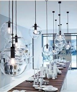 Neue Moderne Nordic Lustre Globe Pendelleuchten Glaskugel Lampenschirm Hängelampe E27 Suspension Küche Leuchten Hause Beleuchtung