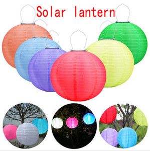 30CM LED solare Lanterne esterna impermeabile Hanging solare luci LED Festival appendere le luci di celebrazione lanterne cinesi