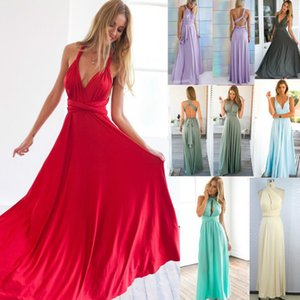 11 color Wedding party dresses 2016 summer sexy women maxi dress red bandage long dress women V-neck wrap around design robe longue femme