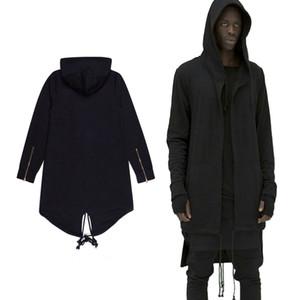 후드 남성 / 여성 두건이있는 망토 플러스 롱 숄 더블 코트 - 코트 자객 크리드 자켓 Streetwear Oversize