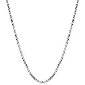 1 мм 2 мм стерлингового серебра 925 коробка цепи ожерелье женщины итальянский созданный ожерелье тонкий сильный Коготь застежкой Омар 16 18 20 22 24 дюймов