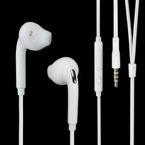 Para Samsung Galaxy S7 S6 Edge Plus Auriculares Auriculares In-Ear 3.5mm In Ear Estéreo con micrófono Control remoto de volumen universal S4 S5 Nota 2 3 4 5