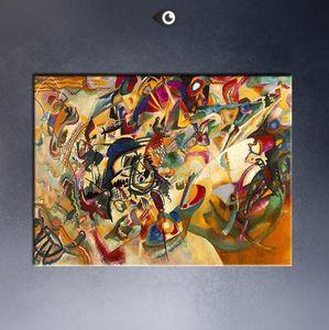 Kandinsky V. Composición VII de WASSILY KANDINSKY, pintura al óleo pintada a mano genuina del arte abstracto de la alta calidad en la lona modificada para requisitos particulares tamaño