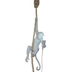 Mono moderno luz de techo Mono blanco en una cuerda Lámpara colgante de techo para comedor Comedor decoración del hotel