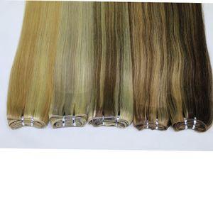 """100 Body Wave Extensiones de cabello remy humano P27 / 613 P8 / 613 P10 / 24 P18 / 613 Color de piano brasileño Trama de tejido recto 18 """"-24"""""""