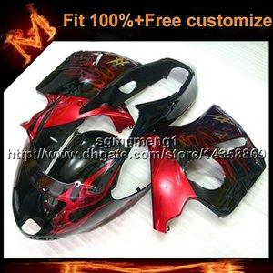 23colors+8Gifts прессформа впрыски красное пламя мотоциклов обтекателя для Honda CBR1100XX 1997-2003 CBR1100XX 97 03 ABS пластик обтекателя