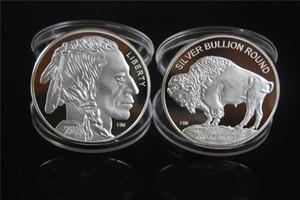 freies Verschiffen 5pcs / lot 1oz 999 feiner amerikanischer silberner Büffel SELTENE Münze 2015 + Messingüberzug-Silbermünze