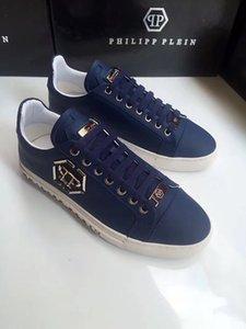 Los hombres de los zapatos casuales de alta calidad de los hombres del cráneo pp zapatos de cuero-0017 deportes de los hombres