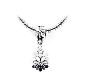 Spedizione gratuita argento placcato bead cherry blossom pendente bead fit pandora bracciali braccialetti bella ciondolo collana pendente gioielli