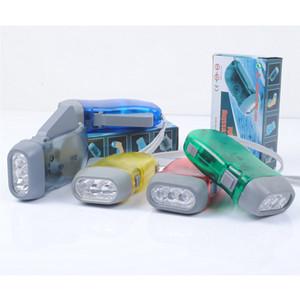 Usine vente directe 3LED lampe de pression de main mini pression de la main, protection de l'environnement, publicité de lampe de poche pression de la main