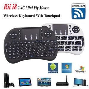 يطير الهواء الفأر Rii i8 لوحة المفاتيح الإنجليزية التحكم عن بعد لوحة اللمس لوحة المفاتيح المحمولة للتلفزيون BOX الكمبيوتر اللوحي الكمبيوتر اللوحي ميني