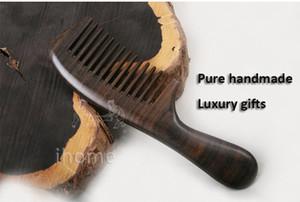 Exclusivo de alta calidad de pelo Boutique peines de madera de lujo precioso ébano africano CHACATE PRETO arte exquisito regalos hechos a mano puros