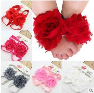inci ayaklar saç çiçek Ayakkabılar sandalet bebek çiçekleri ile Bebek ayak çiçek aksesuarları Avrupa ve Amerikan Çocuk feetwear dayanak