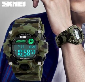 SKMEI Men Sport Digital Wristwatches 5ATM Water-resistant Watch Date Alarm Clock Backlight 1197