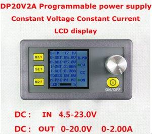 10 unids / lote DP20V2A Medidor de voltaje de módulo de fuente de alimentación controlado Digital Programable Paso a paso probador de corriente voltímetro voltímetro Conver
