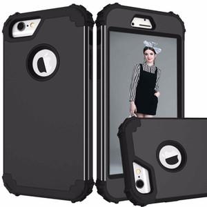 Hibrid Defender Kauçuk Darbe Zırh vaka Iphone x için 10 7 8 6 S Artı Galaxy S8 Artı Not 8 LG G6