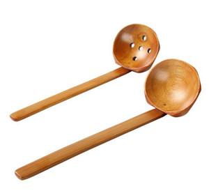Vaisselle en bois Cuillère à soupe de tortue Ramen japonais en bois Poignée à long manche Cuillère à hot pot pratique et durable