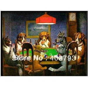 Pintura a óleo do artista das belas artes em reproduções da lona Cães Home da arte da parede da decoração que jogam o póquer por C.M. Animal Coolidge