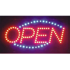 direct selling custom led screen signs 10X19 inch semi-outdoor Animated Running led open sign led billboards Wholesale
