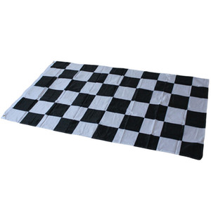 3 * 5ft Racing Checkered Flag - Bannière à carreaux noir et blanc 90 * 150 cm Car Racing Flag Motorsport Racing Bannière Home Decor Party Supplies