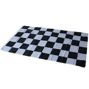 3 * 5ft гонки клетчатый флаг - черно-белый плед баннер 90 * 150 см гоночный автомобиль флаг Автоспорт гонки баннер Home Decor Party Supplies