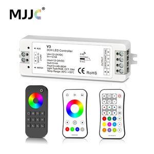 Contrôleur de bande RF 12v 24v 2.4G RGBW de contrôleur de bande de MJJC RVB RGBW LED 12 volts 5 ans de garantie