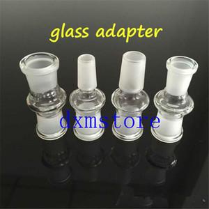 Adaptadores de adaptador desplegables de vidrio para bongs de 18 mm a 14 mm con boca hembra-macho rectificado junta transparente adaptador de vidrio más caliente