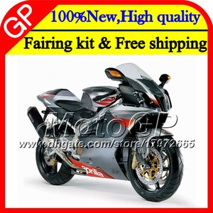 Injection For Aprilia Mille RSV1000 09 10 11 12 13 14 15 3GP10 RSV 1000R RSV1000R 2009 2010 2011 2012 2015 Silver grey Motorcycle Fairing