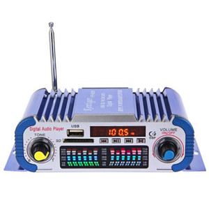 Ventas HY601 Hi-Fi Mini Digital Motocicleta Auto Estéreo Amplificador de Coche de potencia 12V Audio Reproductor de Música Compatible USB MP3 FM SD