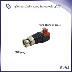 Ücretsiz Kargo 20 ADET CCTV Coax CAT5 BNC Erkek Konnektör BNC CCTV Kablo CAT5 için Tak Sıkma