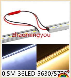 10pcs * 0.5m LED de Cordas Bar 36LED 5630/5730 DC12V LED dura de tiras a frio / quente / azul / perfil rígida Verde / Red Bar Light + U alumínio