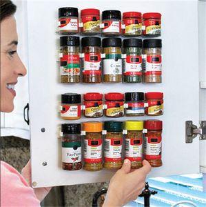 Toptan-5 adet Depolama Holdres Rafları Casters için Baharat Kavanoz Şişeleri Fit Mutfak Buzdolabı Kapı Arka Duvar Dolabı Uzay Koruyucu Temizle Araçları