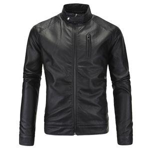 Großhandel 2017 klassische stil motorradfahren pu lederjacken männer schlank männlich motorjacke herrenbekleidung chupas de cuero hombre