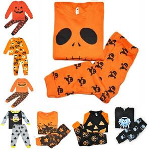 Toddler Pijama Cosplay Takım Bebek Kız Erkek Cadılar Bayramı Kabak Kostüm Çocuk Pijama Mobilya Setleri giyim setleri