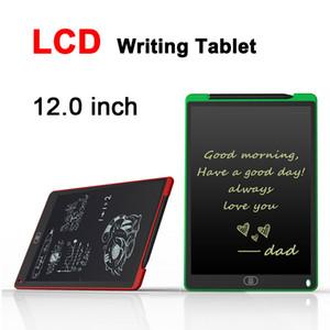 12.0 인치 LCD Writing Tablet Drawing Board 칠판 필기 패드 어린이를위한 선물 Paperless Notepad 업그레이드 된 펜이있는 화이트 보드 메모