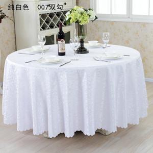 """rotonda Table Cover 126"""" Tovaglia per le tabelle banchetto di nozze della decorazione del partito tessuto del raso Tabella abbigliamento da sposa Tovaglia Home Textile"""