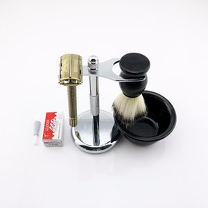 WEISHI Butterfly Safety Razor Long handle Silvery Gun color Bronze Double-sided safety razor 1 SET LOT NEW