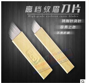100PCS / Lot 3D bordado de cejas PCD 0.25mm 14 agujas 12 agujas para Microblading maquillaje permanente