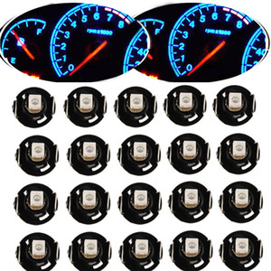 10 20Pcs Instrument LED Light Bulb T4 T4.2 2835 1SMD White Blue Red Green Neo Wedge Meter Panel Gauge Climate Control LED Bulb Universal