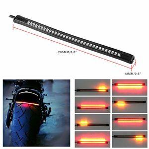 Universal Flexível 32SMD Motocicleta Cauda Brake Stop Turn Signal Integrated 3258 Luz LED, luz de licença da motocicleta à prova d 'água
