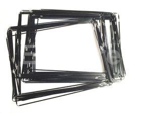 Nuevo plástico Mediados del capítulo del bisel con adhesivo Negro Blanco para el iPad 2 3 4 Marco medio del bisel 100pcs Lote