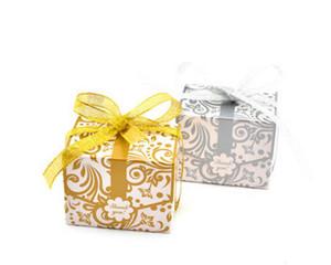 2017 새로운 핫 세일 맞춤형 샴페인 색상 두꺼운 반짝이 부탁 상자 사탕 상자 사용자 정의 호의 상자