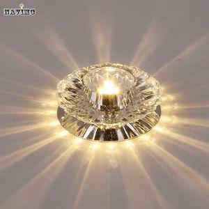 Atacado-Corredor Espelho Lâmpada Do Teto Corredor Varanda Iluminação Para Baixo Cristal Mordern Superfície Montada Luzes de Teto LED Para Sala de estar